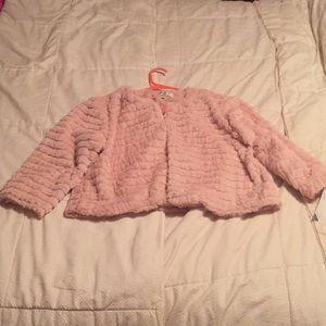 Robbie Bee Blush Pink Fur Shrug